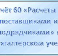 Дебет 60 кредит 60 означает