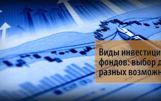 Виды инвестиционных фондов в рф