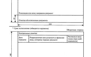 Порядок заполнения регистрационной карточки
