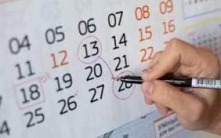 Учет праздничных дней в отпуске