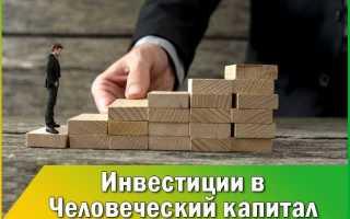 Инвестициями в человеческий капитал являются