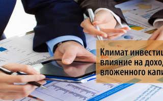 Составляющие инвестиционного климата